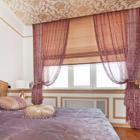 Шторы для спальни неоклассика фото