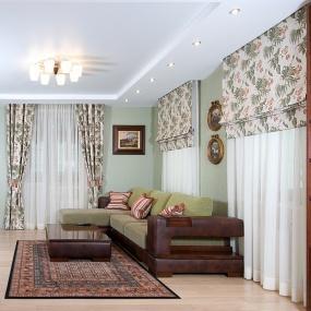 Шторы для зала в английском стиле фото