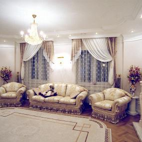 Классические шторы для гостиной фото