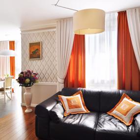 Фото шторы и подушки для гостиной в современном стиле 2017