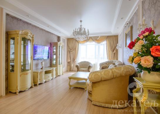 Фото многослойные шторы в классическую гостиную