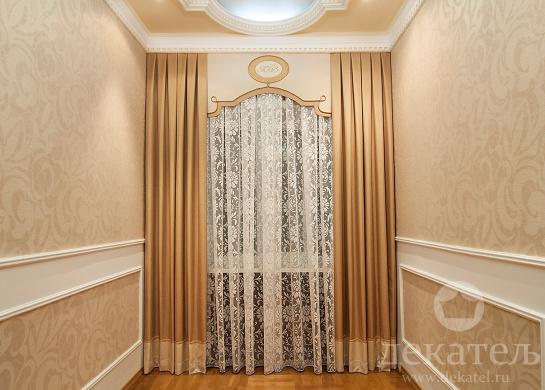 Дизайн штор в холл