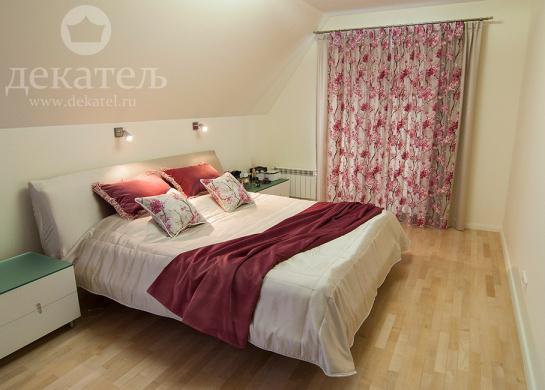 Фото шторы для современной спальни 2016