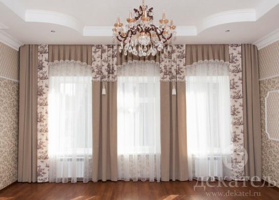 Фото шторы в холл в классическом стиле