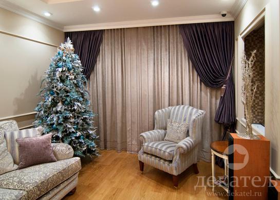 Фото шторы в стиле неоклассика для гостиной 2016